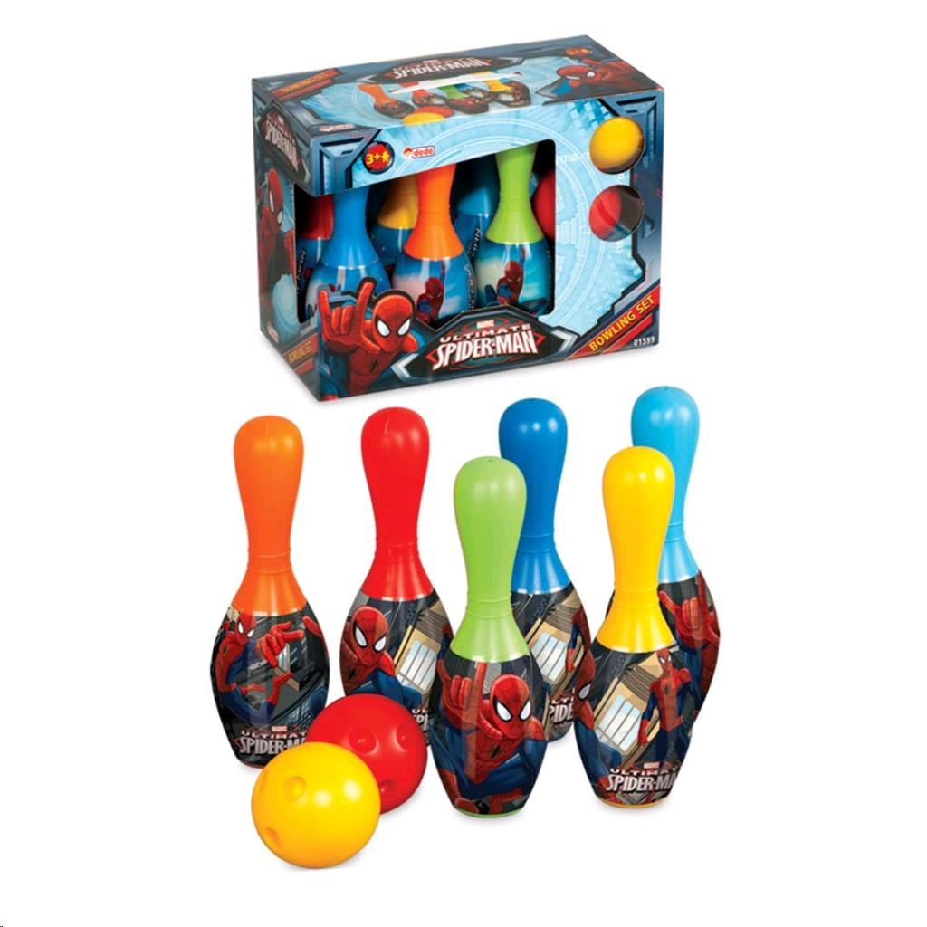 spiderman-bowling-set